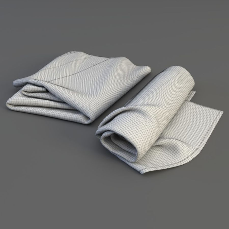Rolled towel royalty-free 3d model - Preview no. 5
