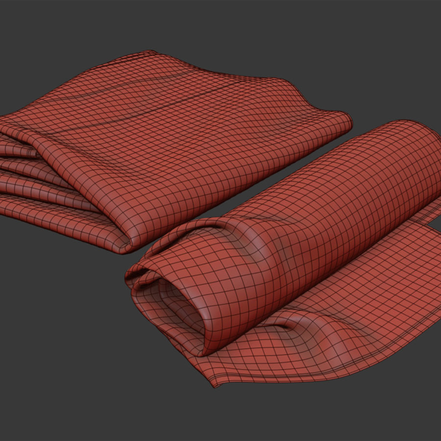 Rolled towel royalty-free 3d model - Preview no. 6