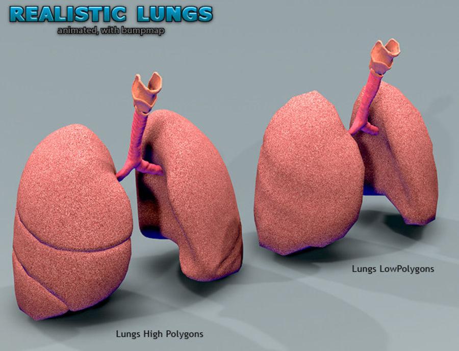Animowane realistyczne płuca royalty-free 3d model - Preview no. 9