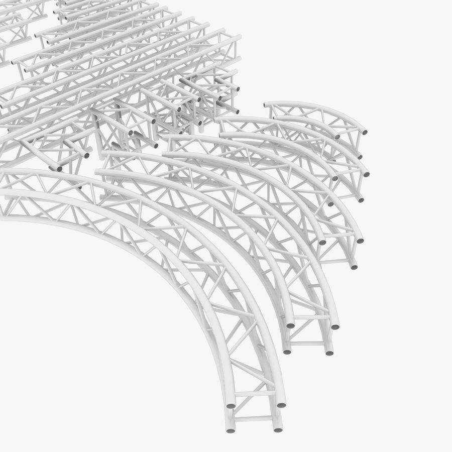 Modular Truss Collection royalty-free 3d model - Preview no. 3
