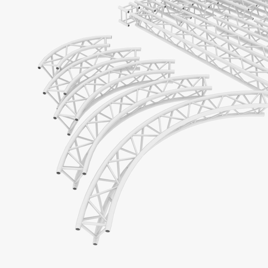 Modular Truss Collection royalty-free 3d model - Preview no. 4