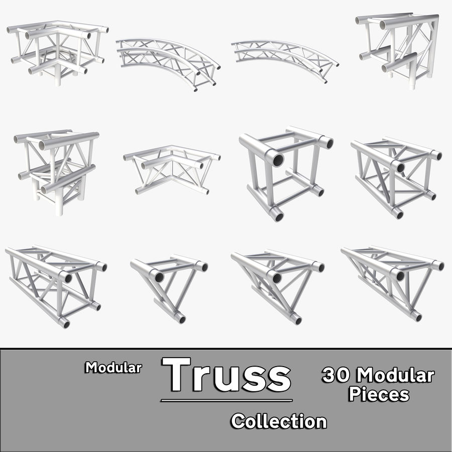 Modular Truss Collection royalty-free 3d model - Preview no. 1