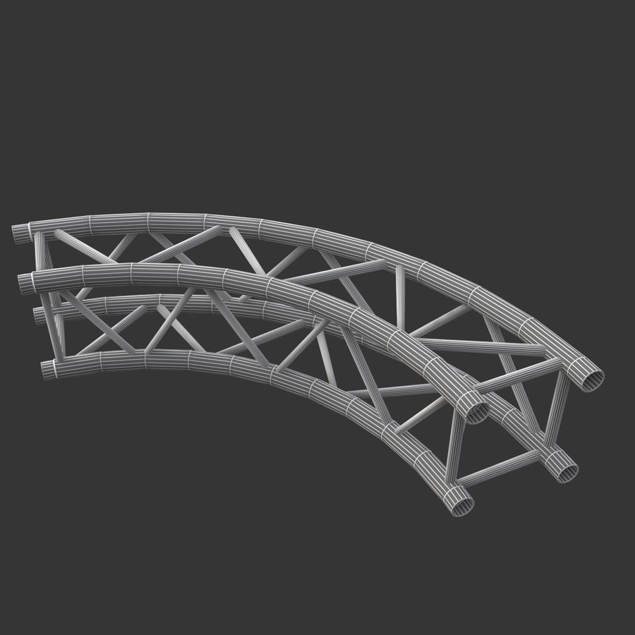 Modular Truss Collection royalty-free 3d model - Preview no. 24