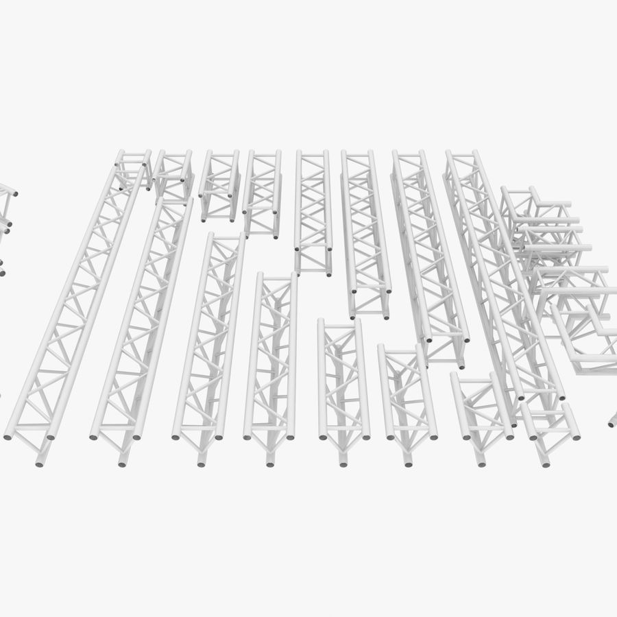 Modular Truss Collection royalty-free 3d model - Preview no. 2