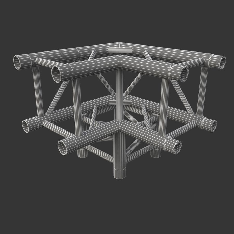 Arc & Corner Truss Collection royalty-free 3d model - Preview no. 9