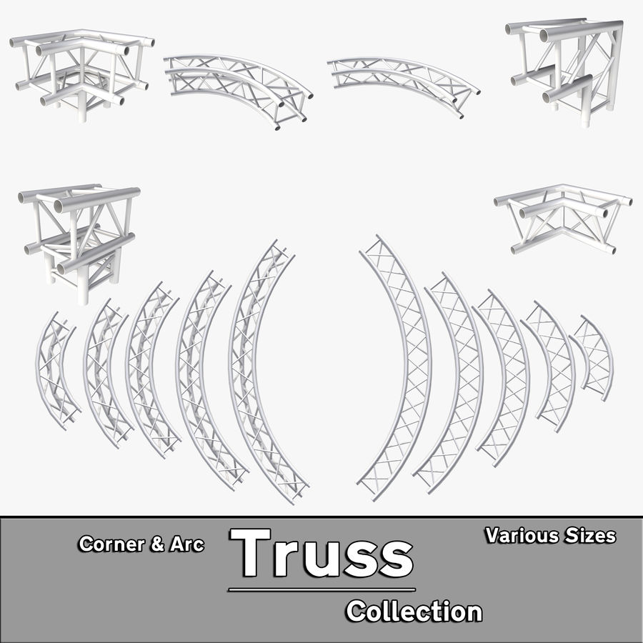 Arc & Corner Truss Collection royalty-free 3d model - Preview no. 1