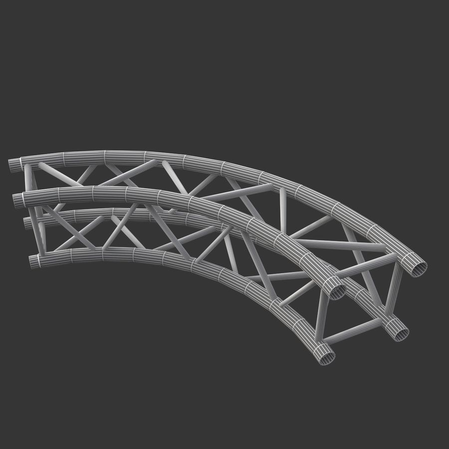 Arc & Corner Truss Collection royalty-free 3d model - Preview no. 12