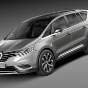 Renault Espace 2015 3d model