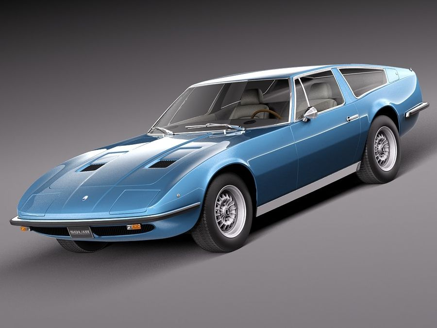 Maserati 1973 royalty-free 3d model - Preview no. 1