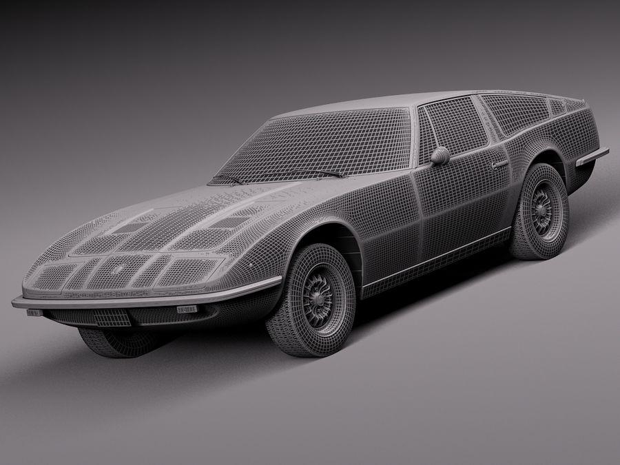 Maserati  1973 royalty-free 3d model - Preview no. 15