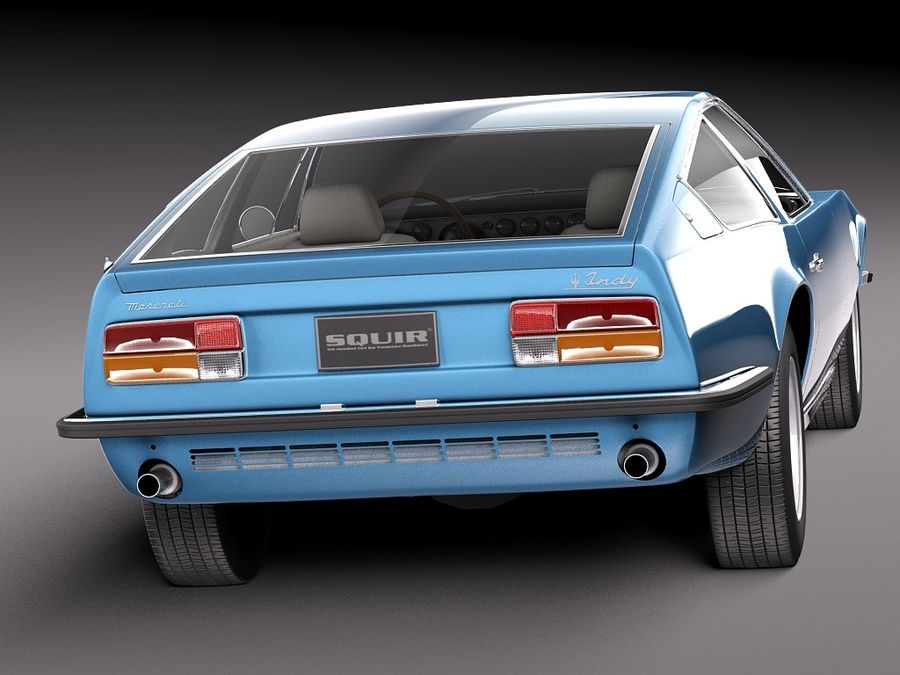 Maserati 1973 royalty-free 3d model - Preview no. 6