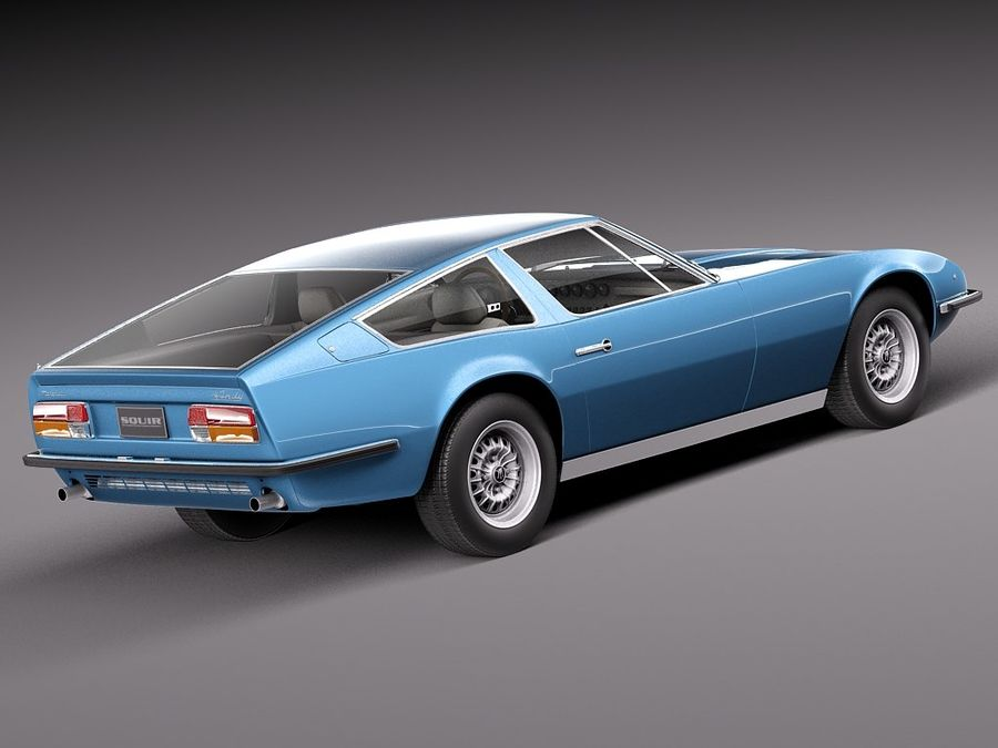 Maserati 1973 royalty-free 3d model - Preview no. 5