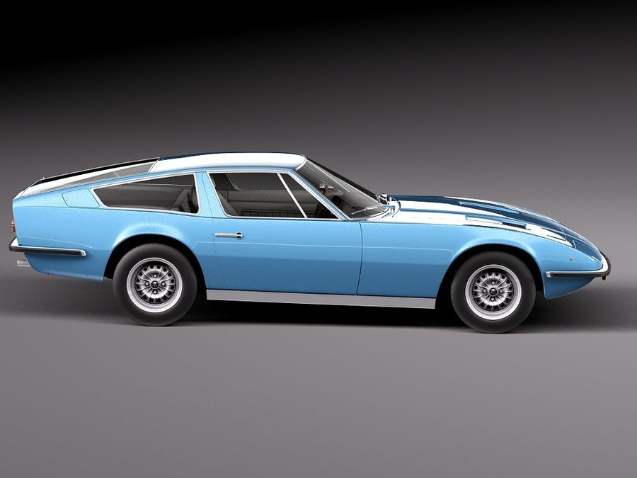 Maserati 1973 royalty-free 3d model - Preview no. 7