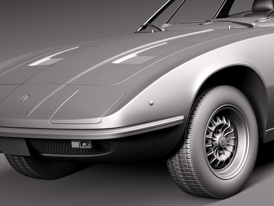 Maserati 1973 royalty-free 3d model - Preview no. 12