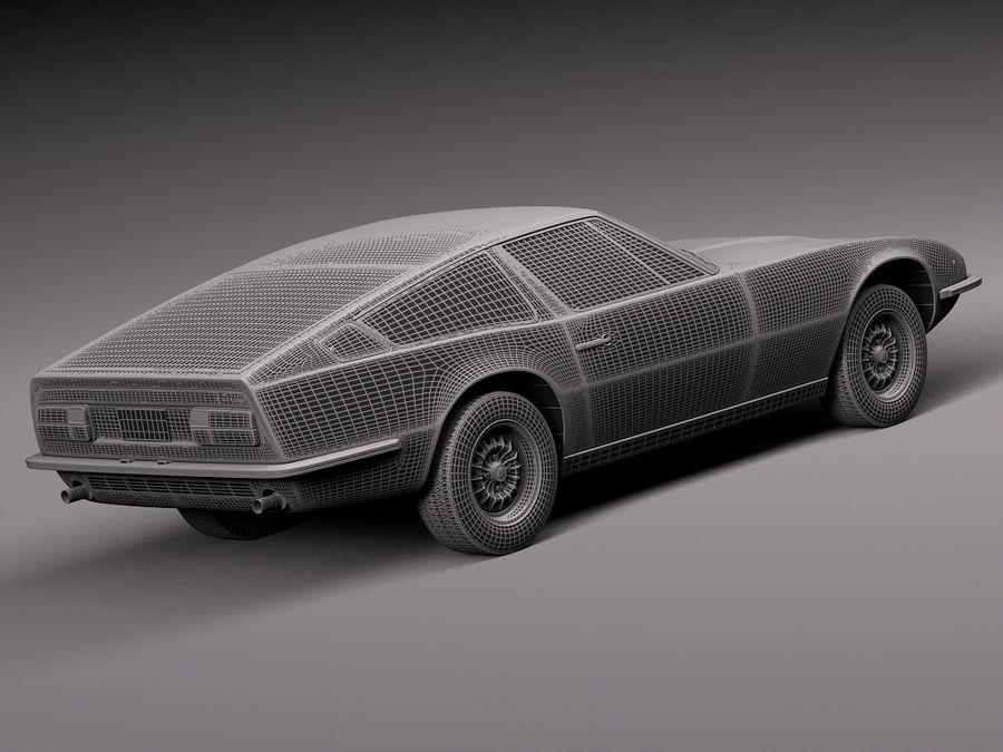 Maserati  1973 royalty-free 3d model - Preview no. 16