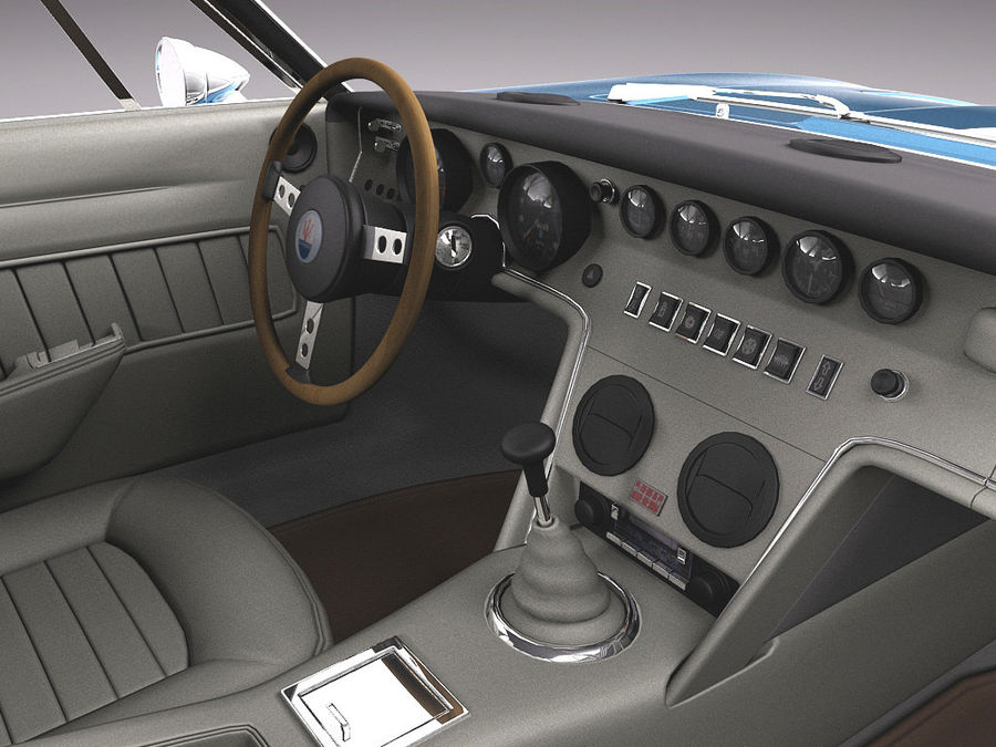 Maserati 1973 royalty-free 3d model - Preview no. 9