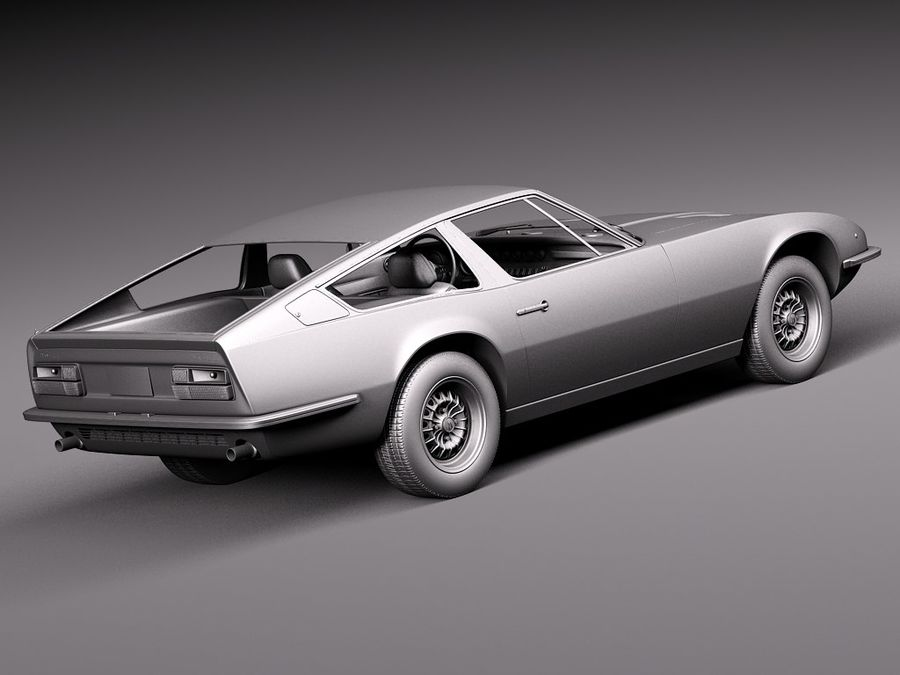 Maserati 1973 royalty-free 3d model - Preview no. 14