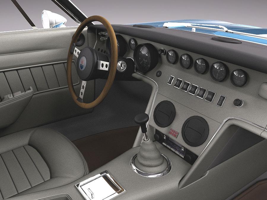 Maserati  1973 royalty-free 3d model - Preview no. 9