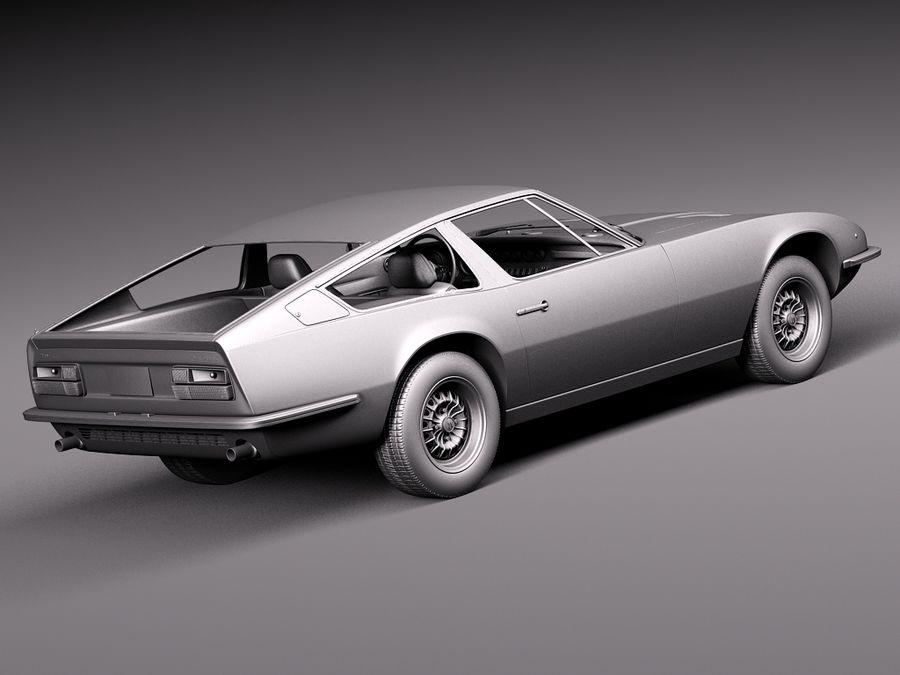 Maserati  1973 royalty-free 3d model - Preview no. 14