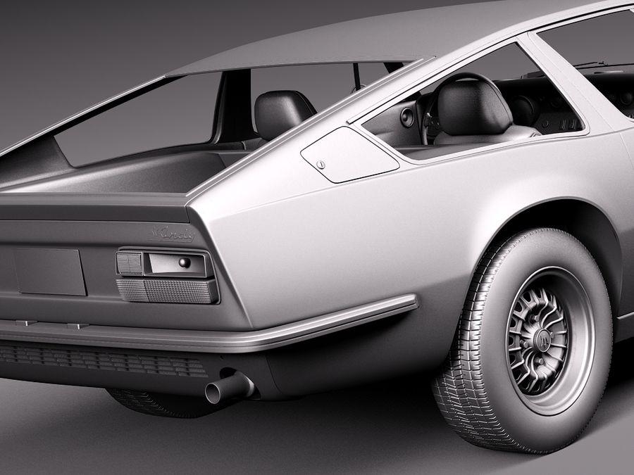 Maserati  1973 royalty-free 3d model - Preview no. 13
