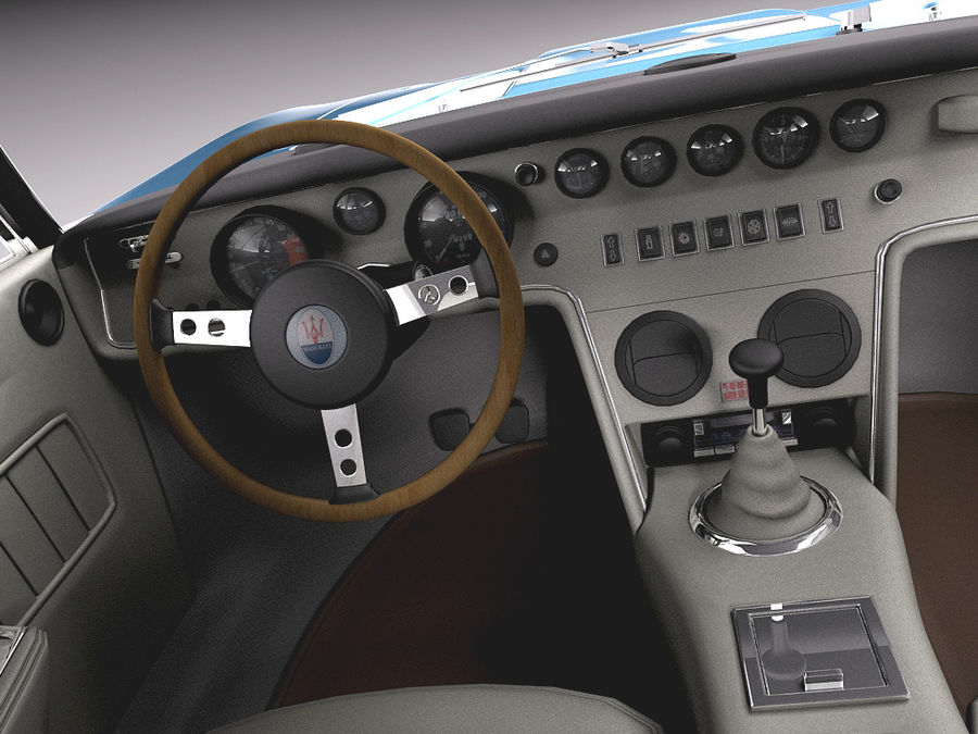 Maserati  1973 royalty-free 3d model - Preview no. 10