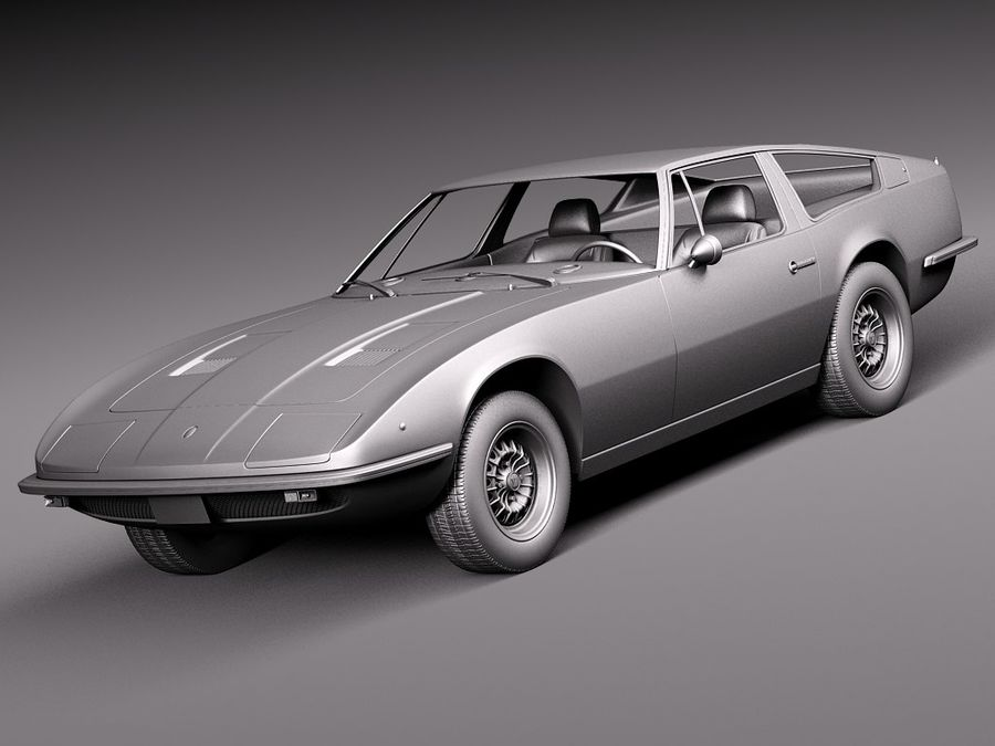 Maserati 1973 royalty-free 3d model - Preview no. 11