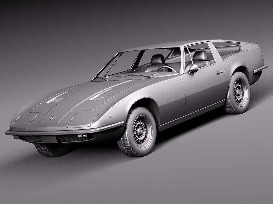 Maserati  1973 royalty-free 3d model - Preview no. 11