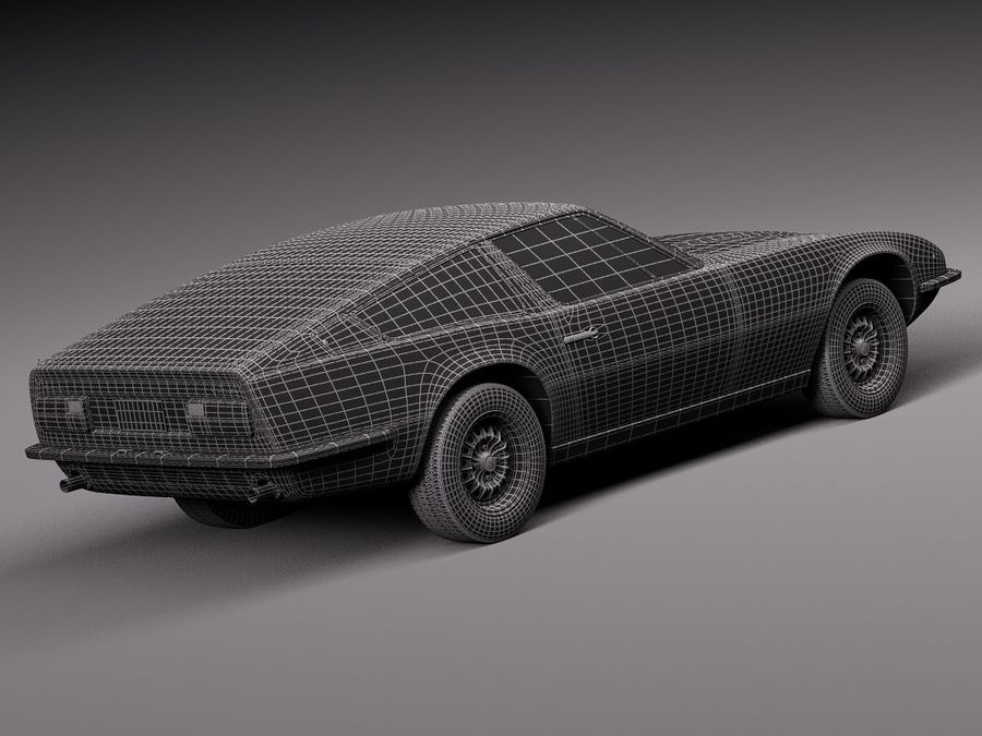 Maserati 1973 royalty-free 3d model - Preview no. 18