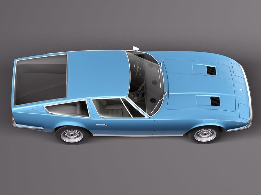Maserati 1973 royalty-free 3d model - Preview no. 8