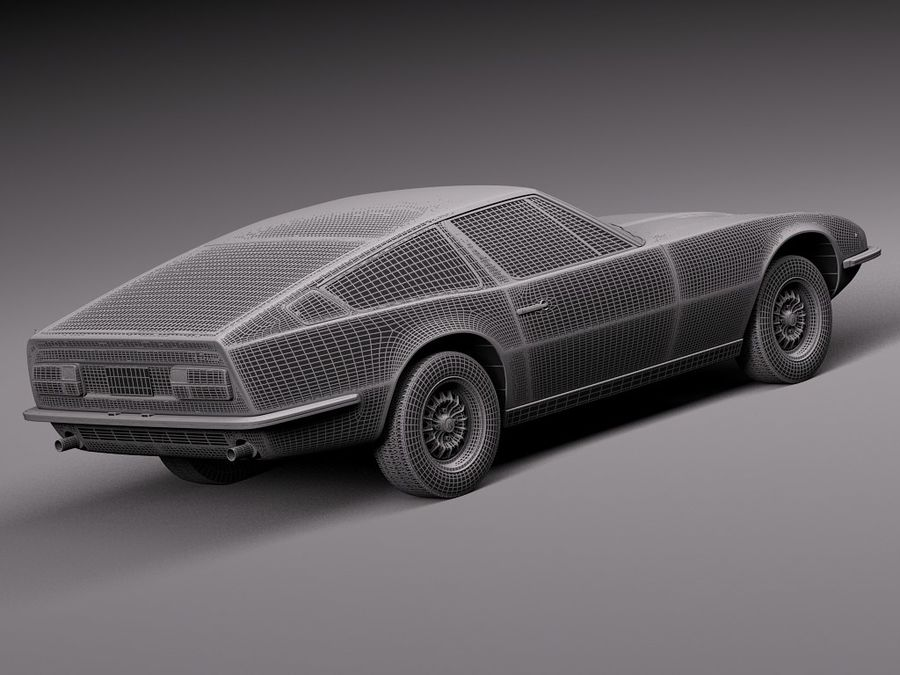 Maserati 1973 royalty-free 3d model - Preview no. 16