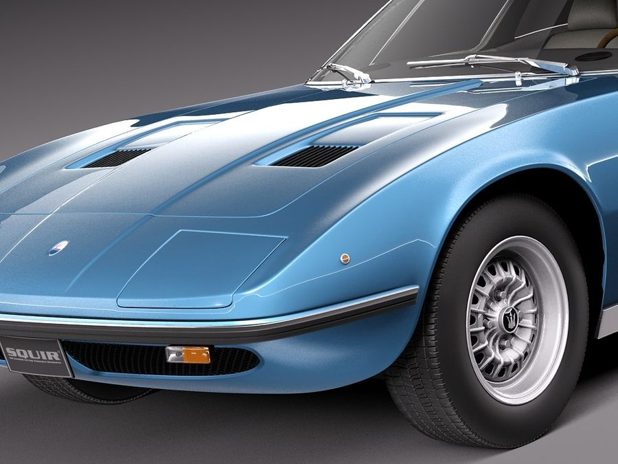 Maserati 1973 royalty-free 3d model - Preview no. 3