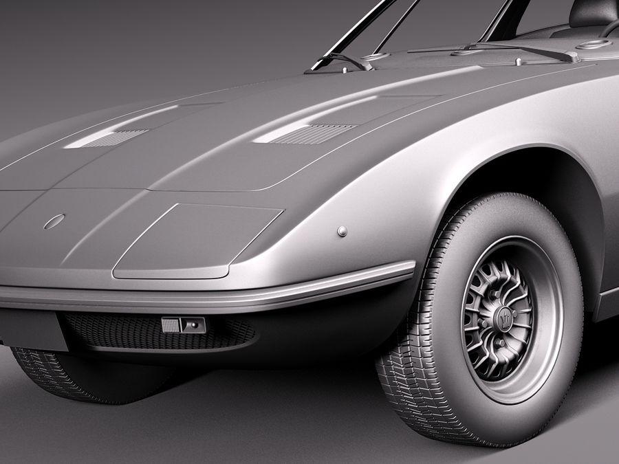 Maserati  1973 royalty-free 3d model - Preview no. 12