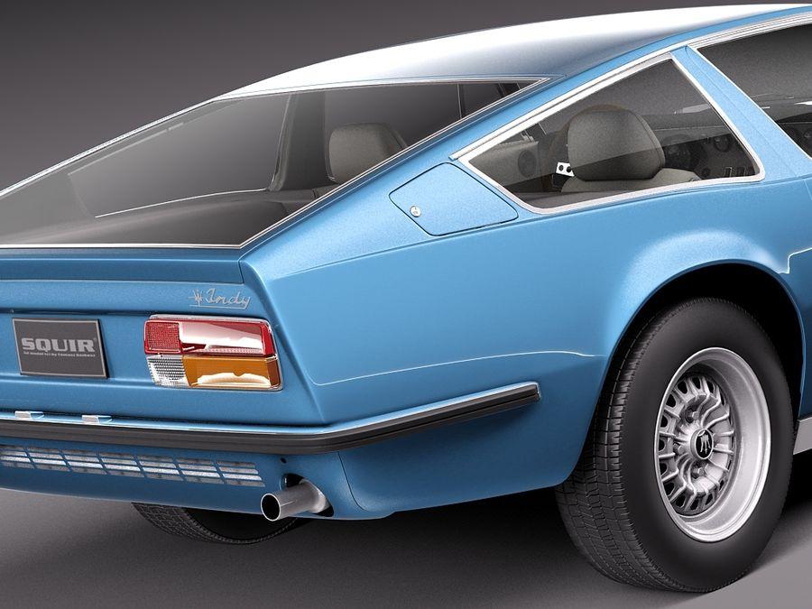 Maserati  1973 royalty-free 3d model - Preview no. 4
