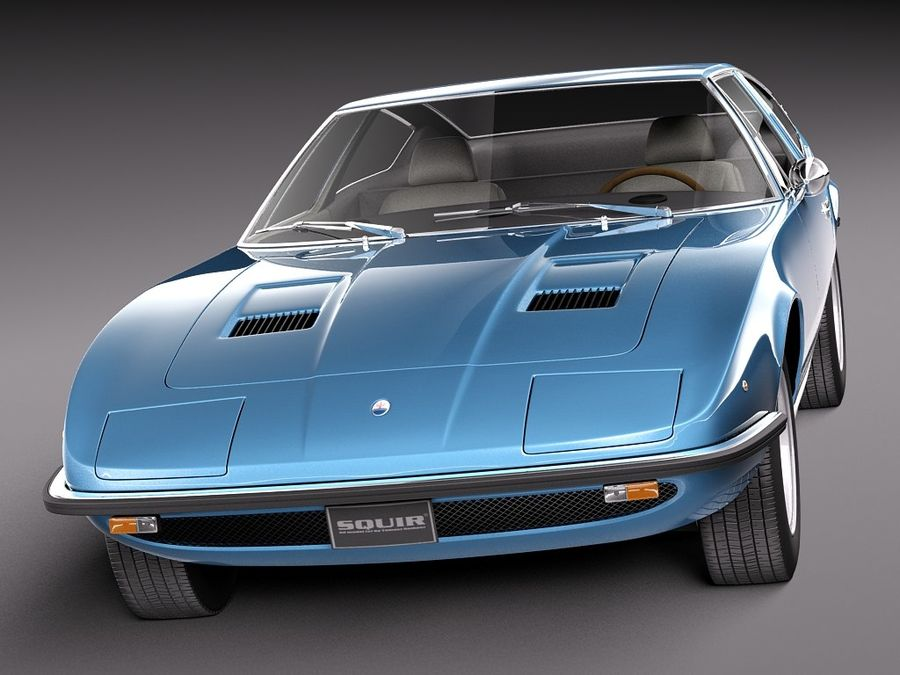 Maserati 1973 royalty-free 3d model - Preview no. 2
