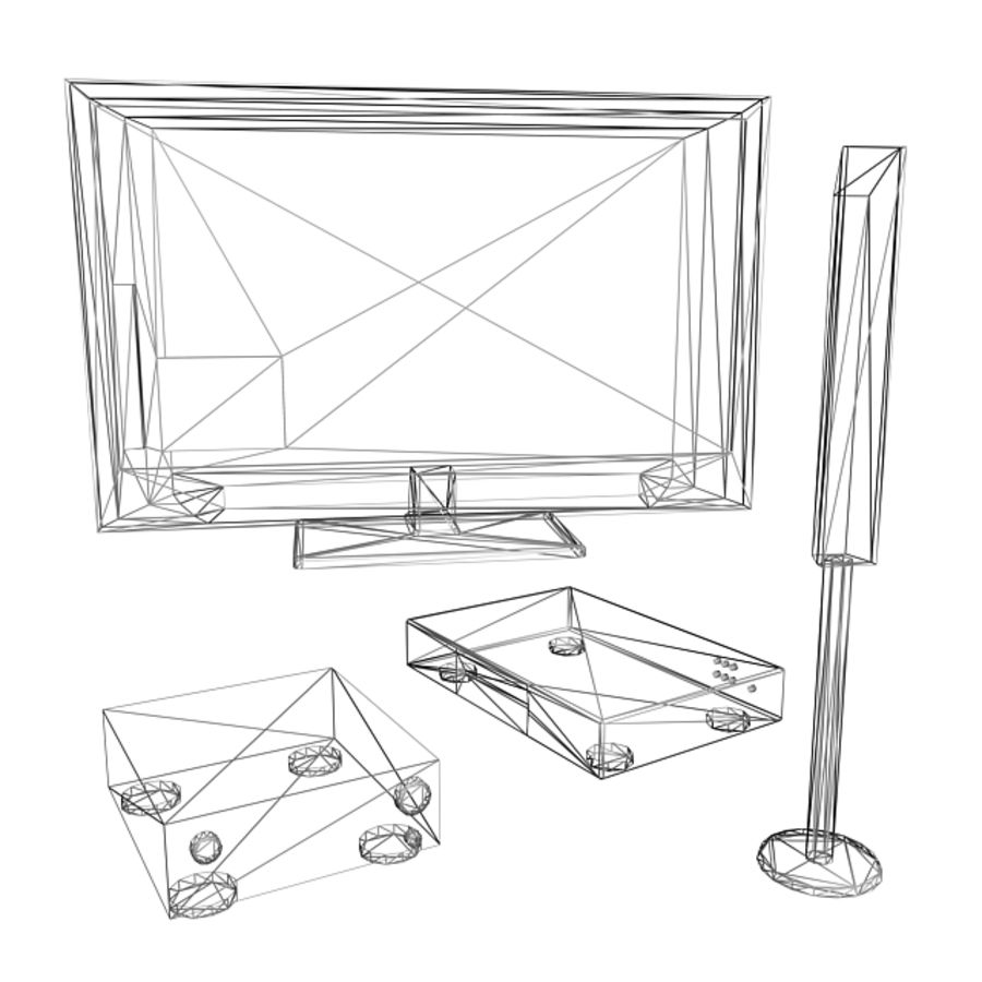 Home Theatre System 1 royalty-free 3d model - Preview no. 7