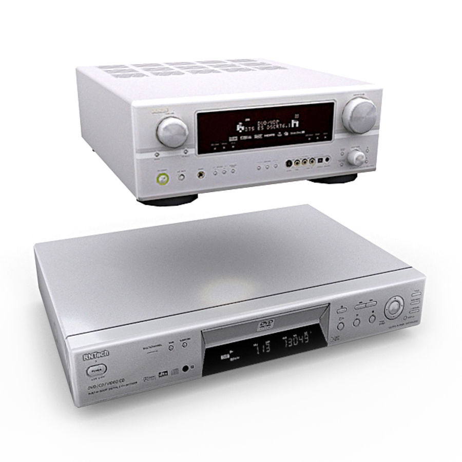 Home Theatre System 1 royalty-free 3d model - Preview no. 4
