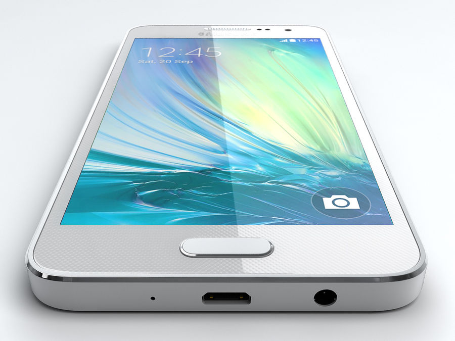 Samsung Galaxy A3 royalty-free 3d model - Preview no. 5