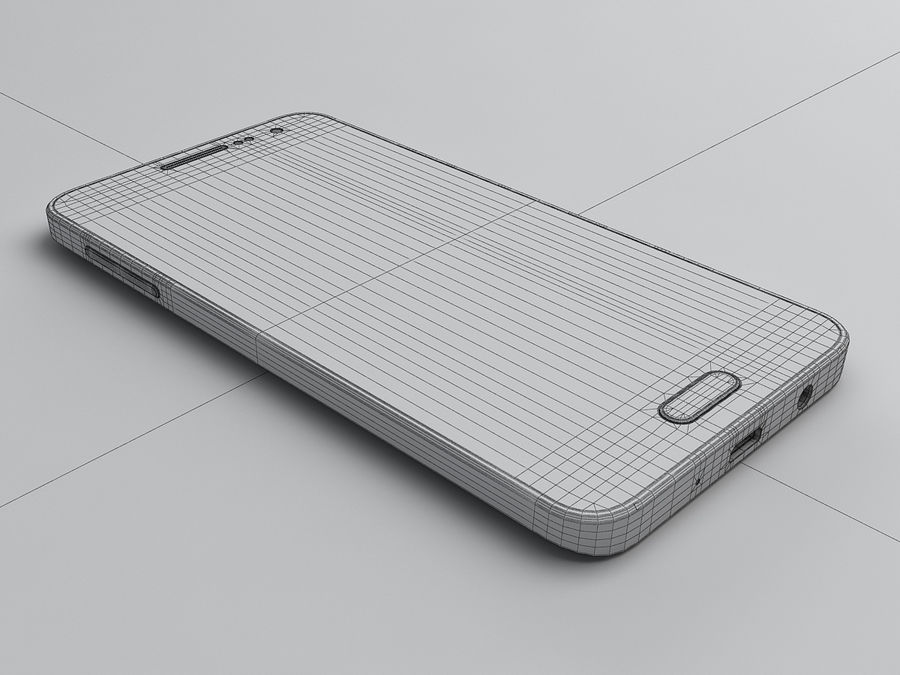 Samsung Galaxy A3 royalty-free 3d model - Preview no. 22