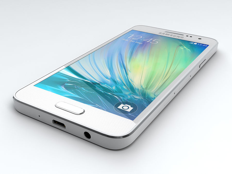 Samsung Galaxy A3 royalty-free 3d model - Preview no. 9