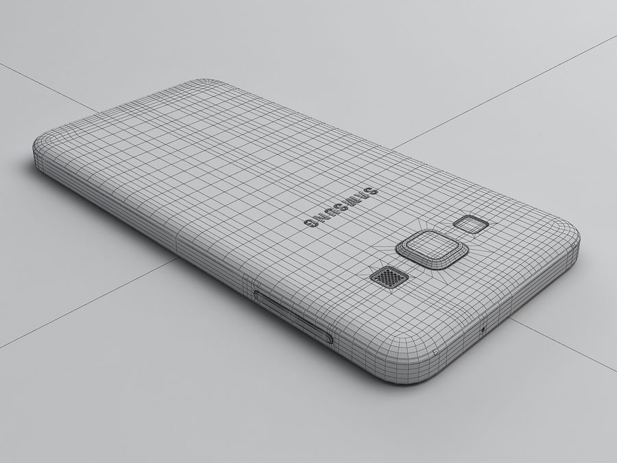 Samsung Galaxy A3 royalty-free 3d model - Preview no. 25
