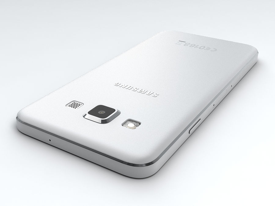Samsung Galaxy A3 royalty-free 3d model - Preview no. 12
