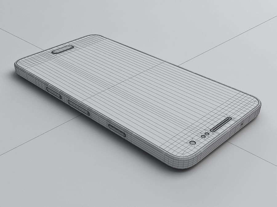 Samsung Galaxy A3 royalty-free 3d model - Preview no. 24