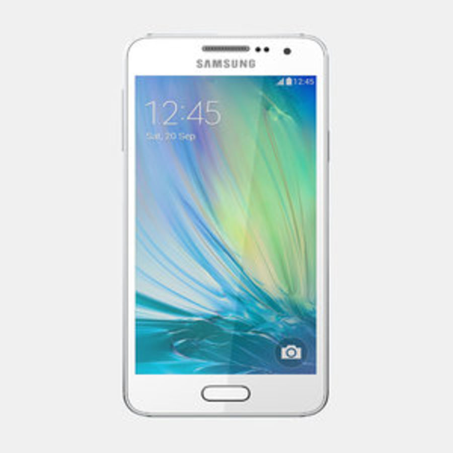 Samsung Galaxy A3 royalty-free 3d model - Preview no. 1