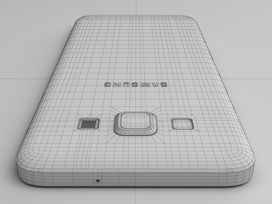 Samsung Galaxy A3 royalty-free 3d model - Preview no. 27
