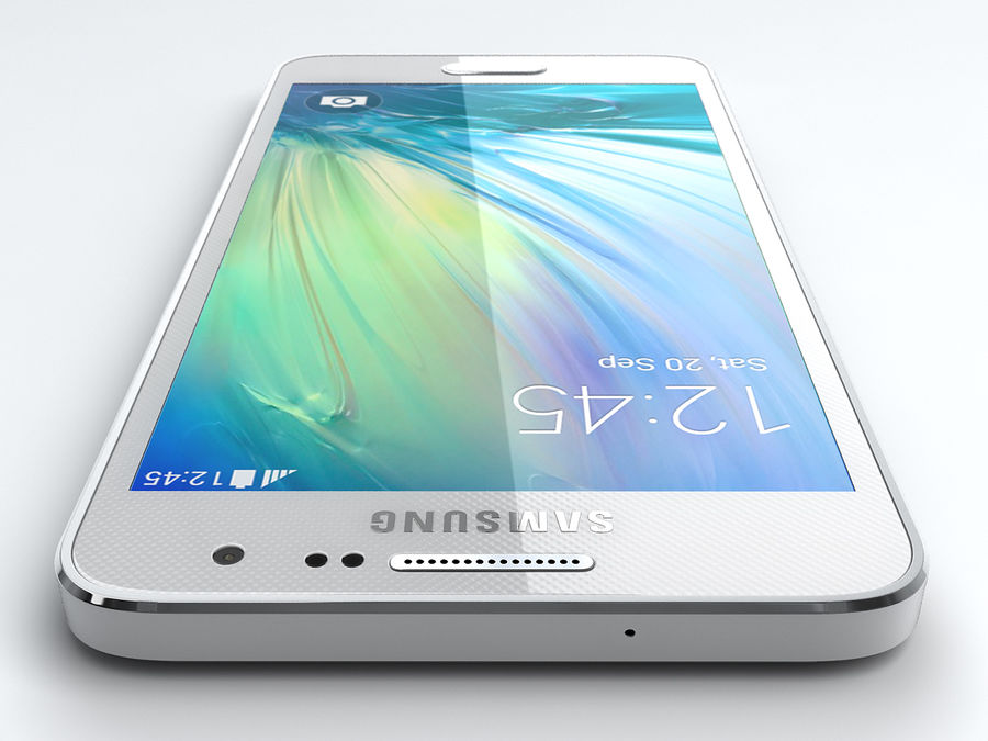 Samsung Galaxy A3 royalty-free 3d model - Preview no. 7