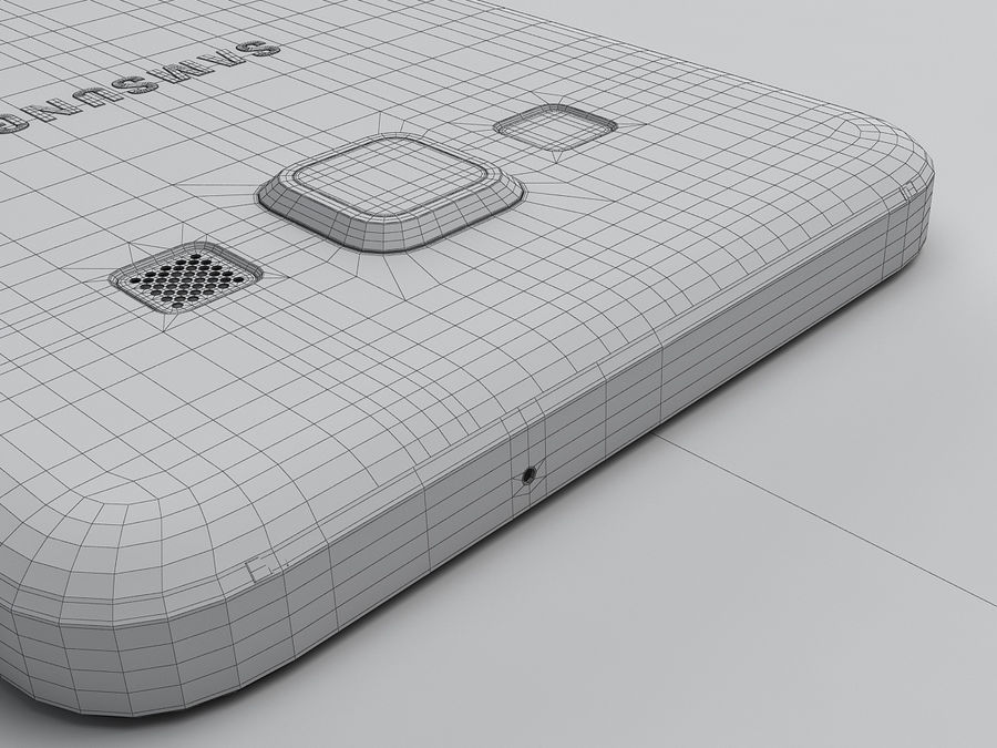 Samsung Galaxy A3 royalty-free 3d model - Preview no. 29