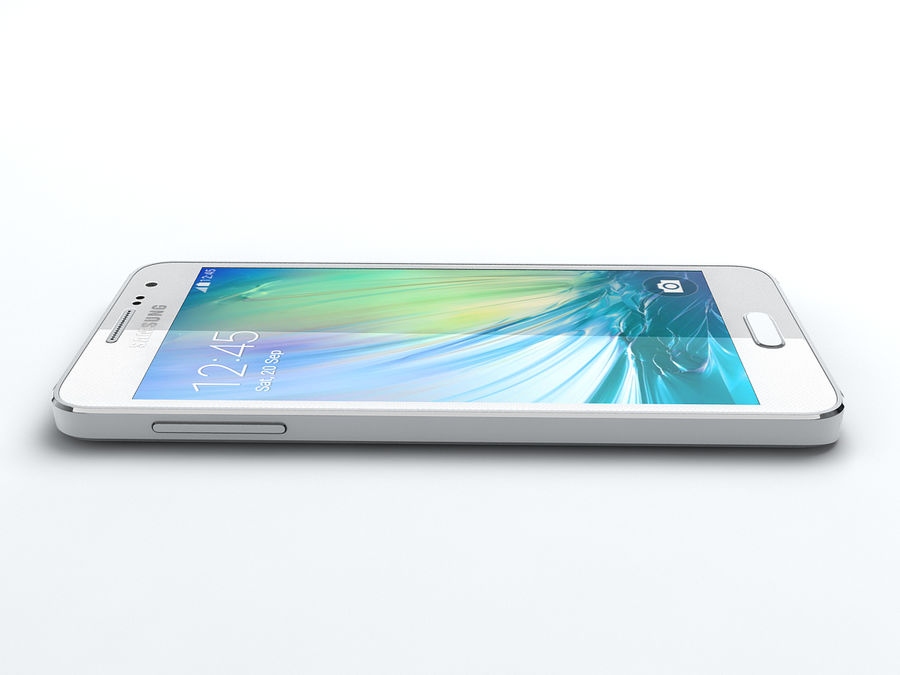 Samsung Galaxy A3 royalty-free 3d model - Preview no. 14