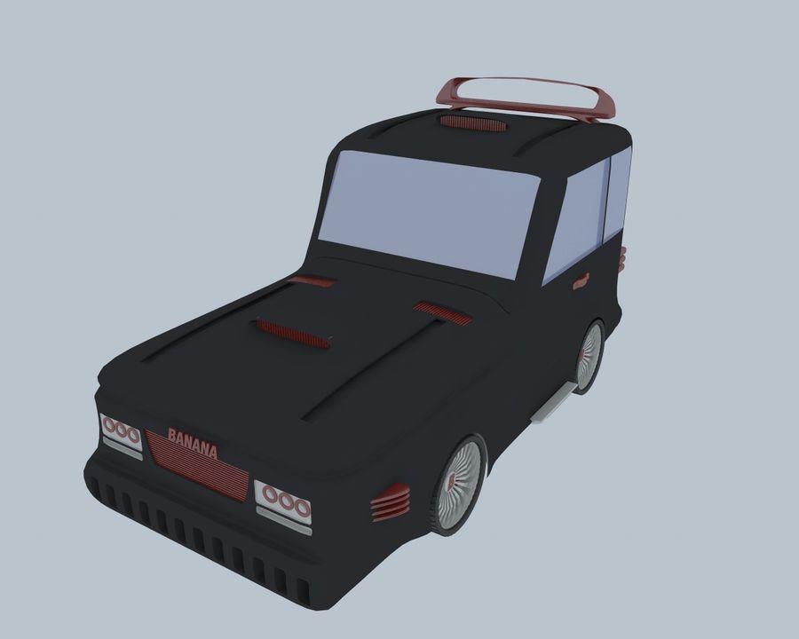 Cartoon car(1) royalty-free 3d model - Preview no. 6