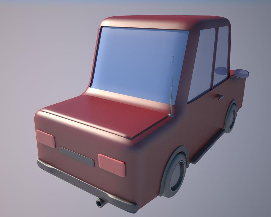 Cartoon car(1) royalty-free 3d model - Preview no. 3