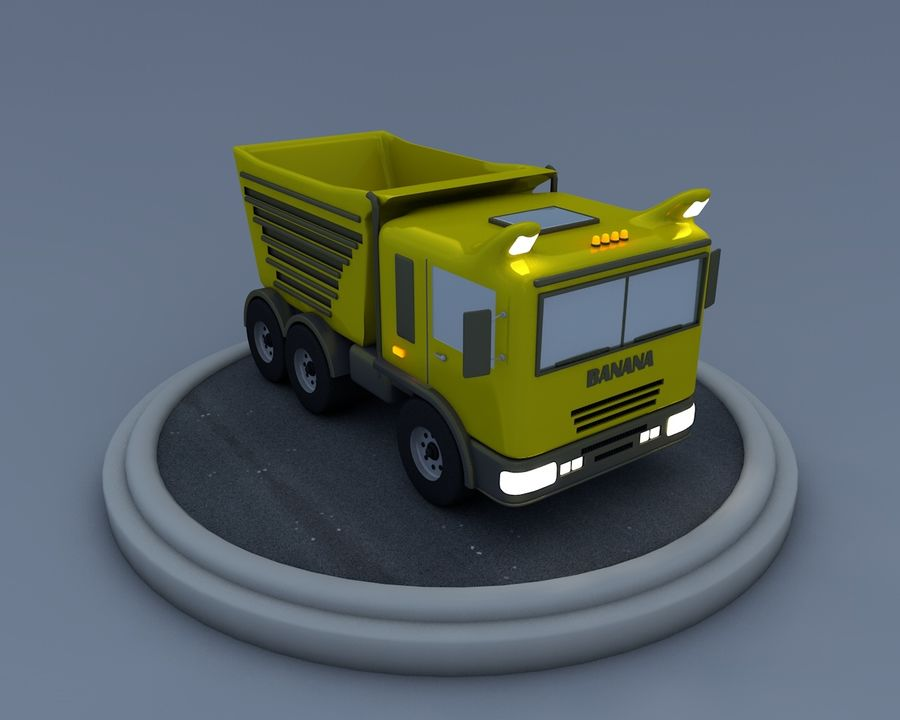 Cartoon car(1) royalty-free 3d model - Preview no. 11